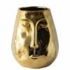 Afbeelding van Gouden vaas met gezicht H195cm
