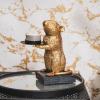 Afbeelding van Muizen kandelaar-8x16x14 cm-Goud-Housevitamin