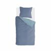 Afbeelding van Dekbedovertrek Side Way Donker Blauw / Blauw - 155x220 cm