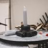 Bild von Kerzen grau - 6 Stück