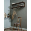 Bild von Bistro-Stuhl braunes Holz