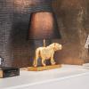 Bild von Tischlampe Lion-32x48x17 cm Gold