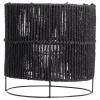 Afbeelding van Lantaarn touw ø22x22cm zwart