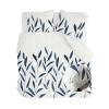 Bild von Bettbezug Bambuszweige weiß / dunkelgrau - 200x220 cm