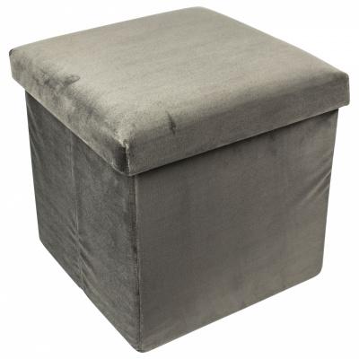 Opvouwbare opbergpoef grijs