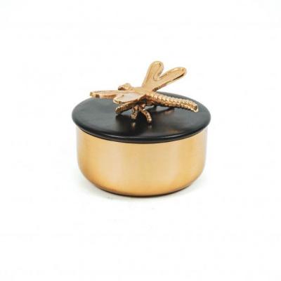 box Libelle - Goud/Zwart-14x10cm