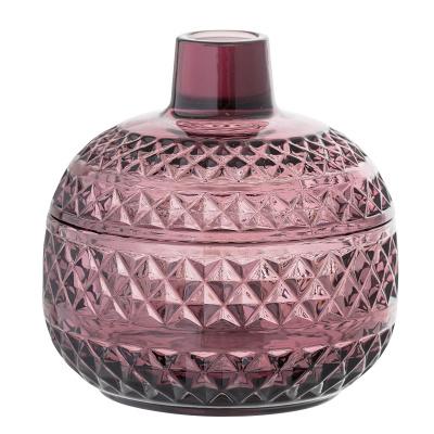 Adriana Jar met deksel paars glas