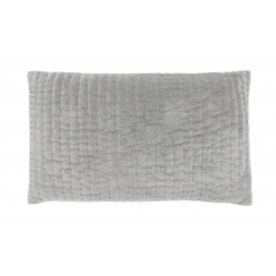 CASTOR kussenhoes grijs fluweel