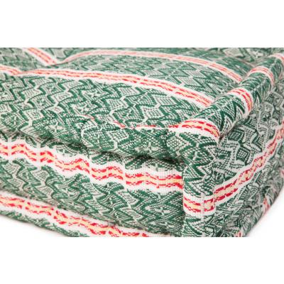 Lounge Matras Marokko Groen,Rood 80x80x15