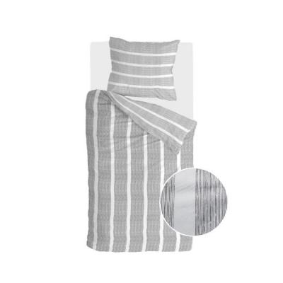 Dekbedovertrek Stripe Along Antraciet - 155x220 cm