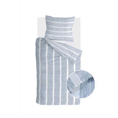 Bettbezugstreifen entlang blau - 140x220 cm