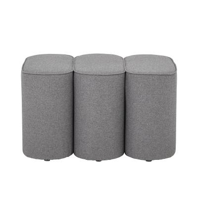 Jaden Pouf Gray Polyester