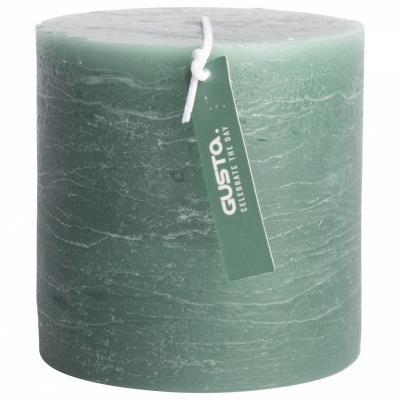 Rustikale Kerze Ø10x10cm grün