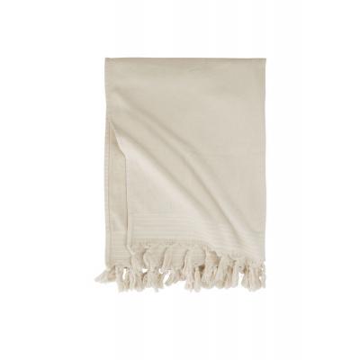 Hammam-Handtuch weiche Baumwollkieselgrau - 100x180 cm