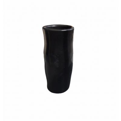 Vase-Zylinderkeramik 58cm schwarz schwarz