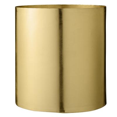 Achterste bloempot gouden metaal