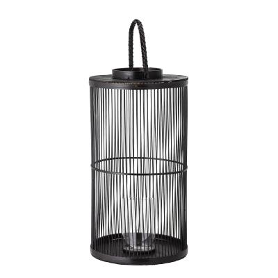 Effie Lantaarn W / Glass Black Bamboo