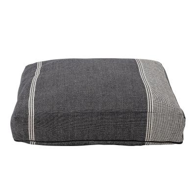 Parian-vloer kussen grijs katoen