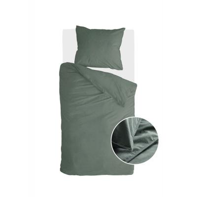 Bettbezug Vintage Baumwolle dunkelgrün - 140x220 cm