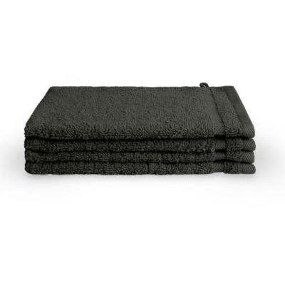 Washand Bath Basics Antraciet (set 4 stuks) - 16x21 cm