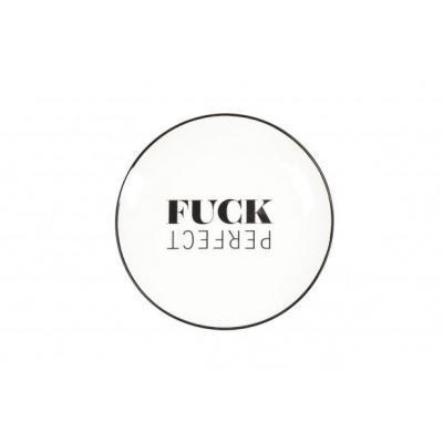 Gebaksbordje 'Fuck Perfect''- Ø18cm