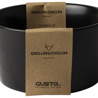 BBQ schaaltje ø13x7cm zwart - Grillin'& Chillin'