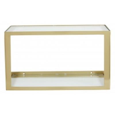 Nera-Regal mit Glas golden