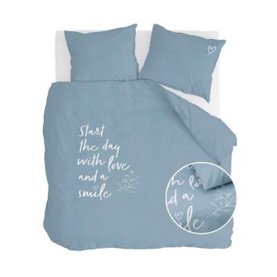 Bettbezug Lächeln mit Liebe Jeans blau - 200x220 cm