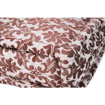 Lounge Matratze Marokko braun, weiß 80x80x15 cm