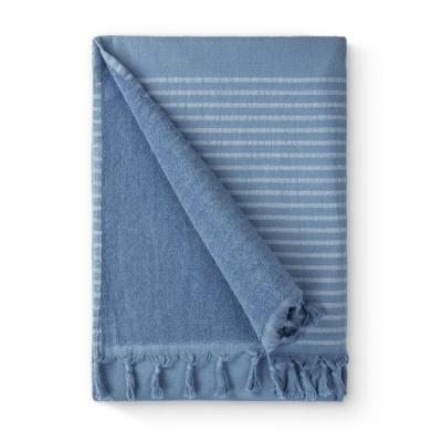 Hamamdoek Bath Basics Blauw - 100x180 cm