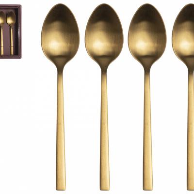Koffie lepeltje goud - set 4 stuks