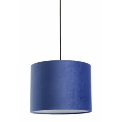 Lampenkap fluweel blauw