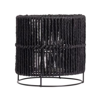 Lantaarn touw ø18x18cm zwart
