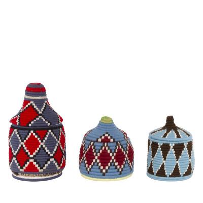 Berber-Korb gefärbt blau s