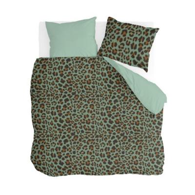 Dekbedovertrek Lazy Leopard Groen - 200x220 cm