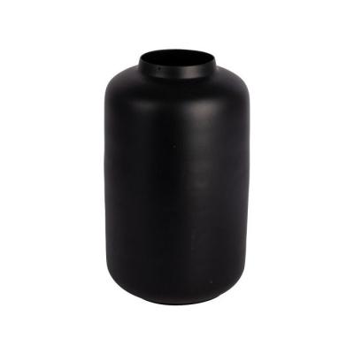 Vaas metaal ø13x21.5cm zwart