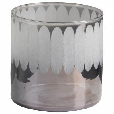 Teelichthalter Glas 10x10cm Blau - Version 1