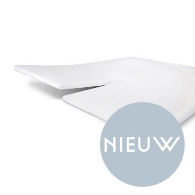 Hoeslaken Jersey Stretch Split-topper Wit - 160x200/210 cm