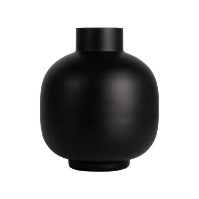Vaas metaal ø17x20cm zwart