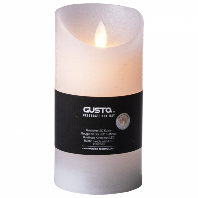 Kerze, die Flamme-LED Ø75xh15cm weiß