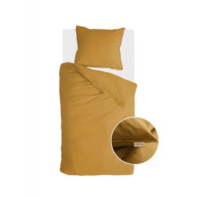 Bettbezug Vintage Baumwolle Honig Senf - 140x220 cm