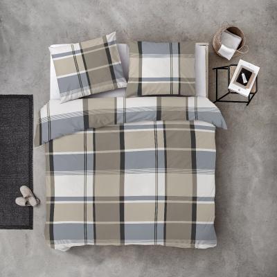 Bettbezug große Quadrate Sand - 200x220 cm