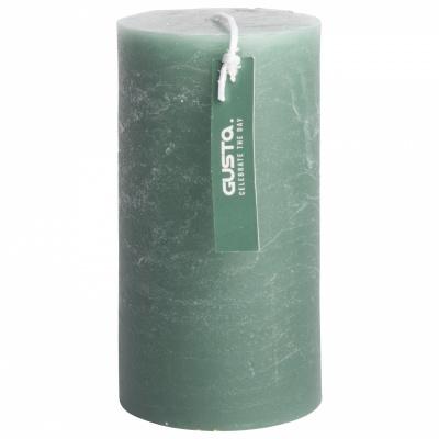 Rustikale Kerze Ø68x13cm grün