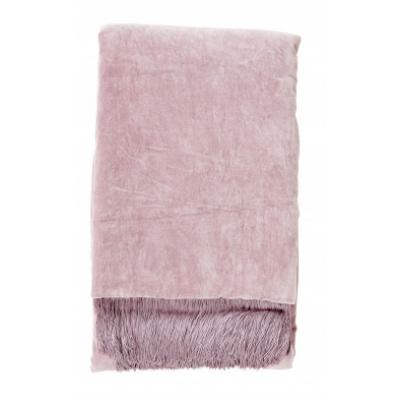 Decke mit Fransen Licht lila Velvet