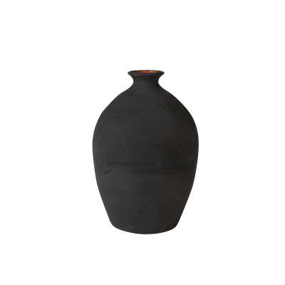 Keramische Vaas Marokko 35 CM Zwart Flora