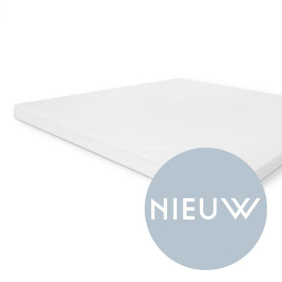 Molton Cotton Cover Topper Wit - 180x200 cm