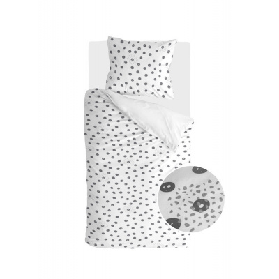 Bettbezug Silberflecken weiß - 140x220 cm
