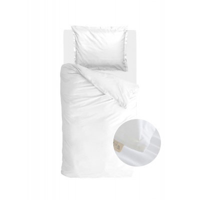 Bettbezug Vintage Satin weiß - 140x220 cm