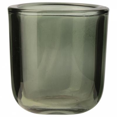 Gla-Teelichthalter Ø75x8cm grün