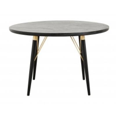 Eettafel ronde zwart hout